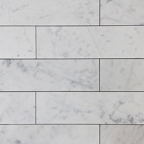 Carrara Marble Italian White Bianco Carrera 3x12 Marble Tile Polished