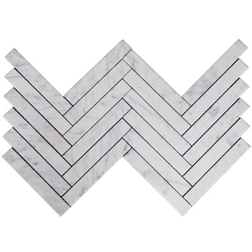 1x6 Herringbone Mosaic Tile Honed