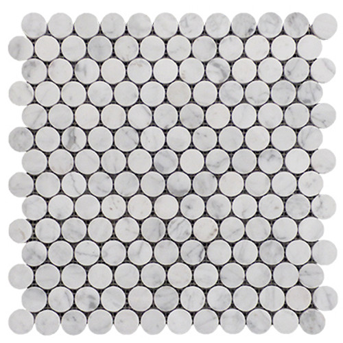 "1"" Penny Rounds Mosaic Tile Polished"