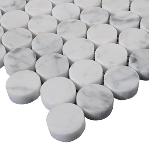 """1"""" Penny Rounds Mosaic Tile Honed"""