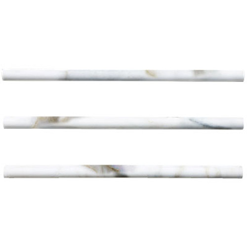 Calacatta Gold Italian Marble  Bullnose Pencil Molding Tile Polished