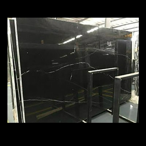 Black Nero Marquina Marble Slab Thickness 3/4 Inch Polished
