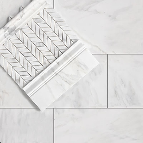 Calacatta Gold Italian Marble 9x18 Subway Tile Polished