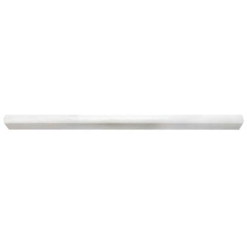 Dolomiti White Marble Italian Bianco Dolomite Bullnose Pencil Molding Honed