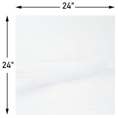 24x24 Bianco Dolomite Marble Tile Honed
