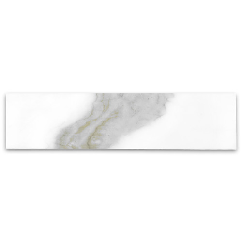 Calacatta Gold Italian Marble 3x12 Subway Tile Polished