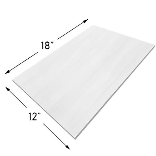 12x18 Bianco Dolomite Marble Tile Polished