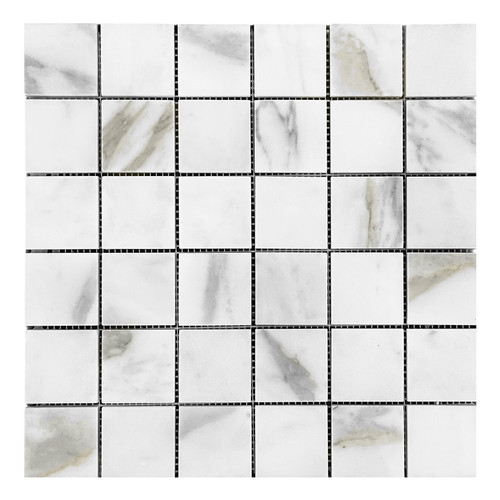 Calacatta Gold Italian Marble 2x2 Mosaic  Tile Polished