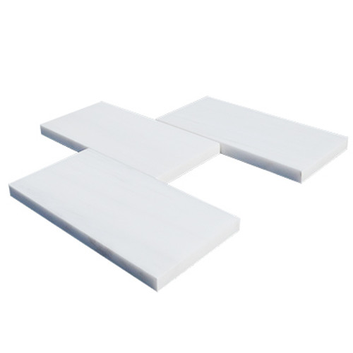 3x6  Bianco Dolomite Marble Subway Tile Honed