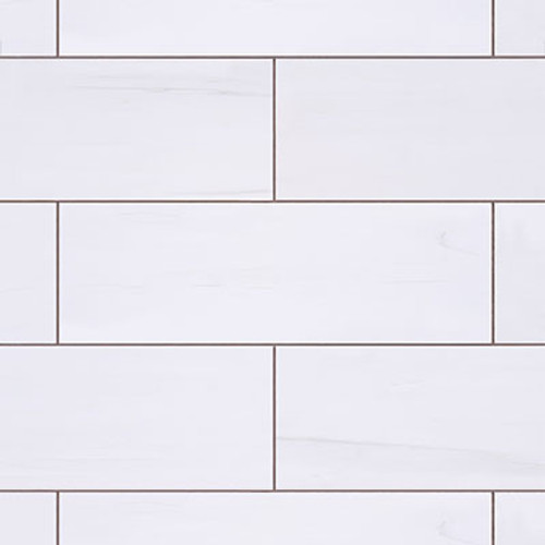 4x12  Bianco Dolomite Marble Tile Honed