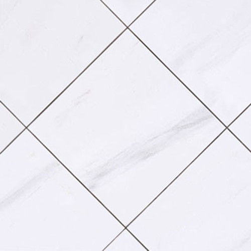 12x12 Bianco Dolomite Marble Tile Honed