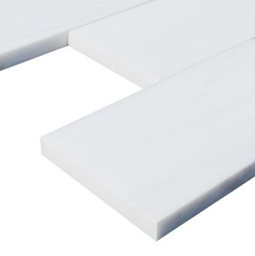 6x12 Bianco Dolomite Marble Subway Tile Honed