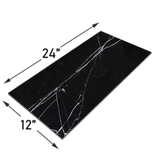 Nero Marquina Black Marble 12x24 Marble Tile Honed