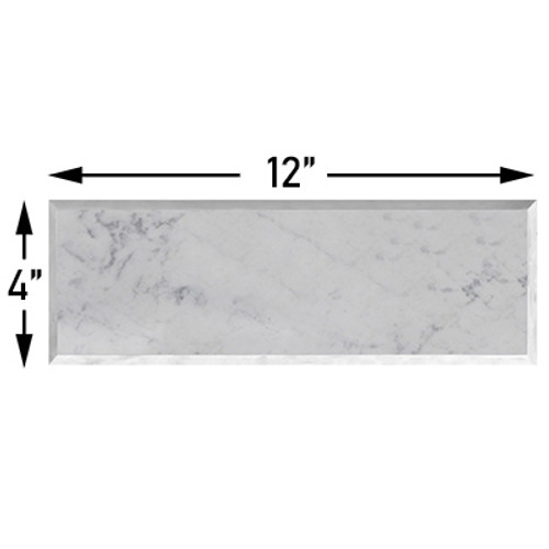 Carrara Marble 4x12 Wide Bevel Subway Tile Polished
