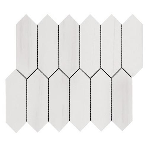 Bianco Dolomite Picket Mosaic Tile Polished
