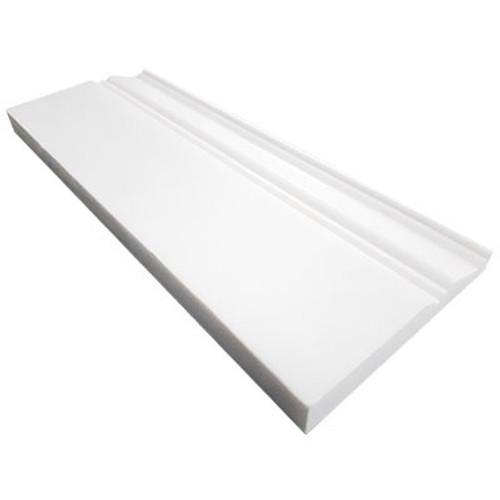 """Bianco Dolomiti Marble 3/4"""" Baseboard Molding Honed"""