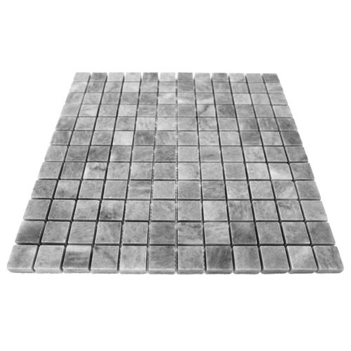 Bardiglio Gray Marble 1x1 Mosaic Tile Polished