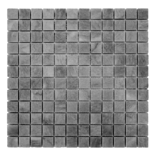 Bardiglio Gray Marble 1x1 Mosaic Tile Honed
