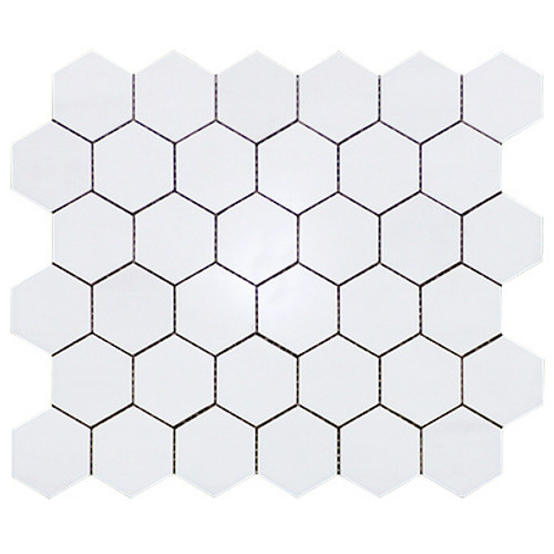 "Dolomiti White Marble Italian Bianco Dolomite 2"" Hexagon Mosaic Tile Honed"