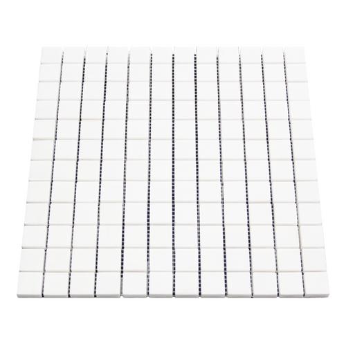 """White Marble Italian Bianco Dolomite 1"""" x 1"""" Mosaic Tile Polished"""