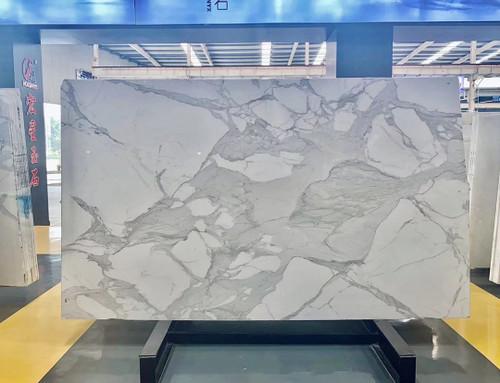 "Calacatta Gold  3/4"" Marble Italian Marble Slab Honed"