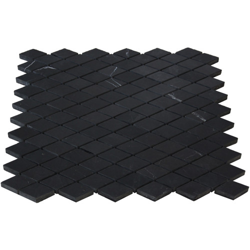 Black Marble Diamond Mosaic Tile Honed
