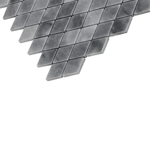 Bardiglio Gray Marble Diamond Mosaic Tile Polished