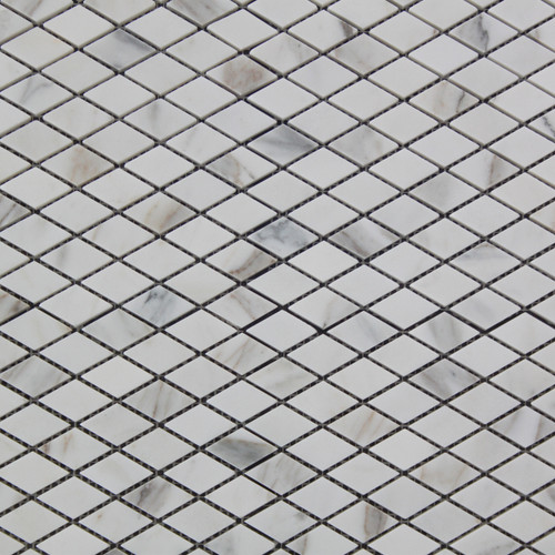 Calacatta Gold Italian Marble Diamond Mosaic Tile Polished