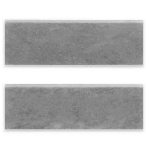 Bardiglio Gray Marble 4x12 Bullnose Trim Tile Honed