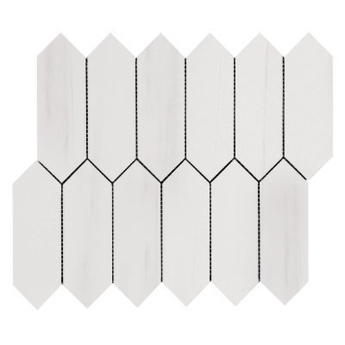 Bianco Dolomite Picket Mosaic Tile Honed