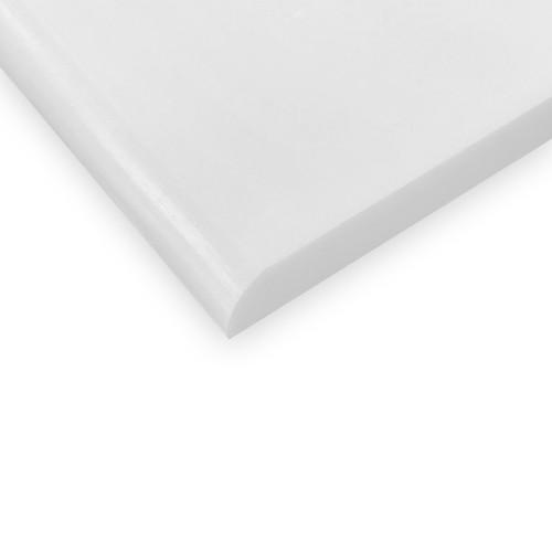 3x6 Bianco Dolomite Marble Bulnose Trim Tile Honed