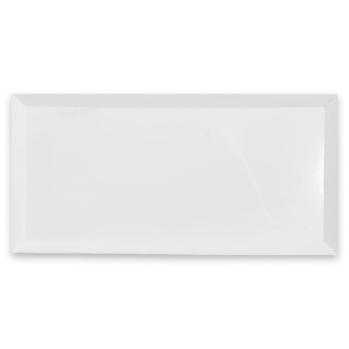 Bianco Dolomite 3x6 Marble Wide Bevel Subway Tile Polished