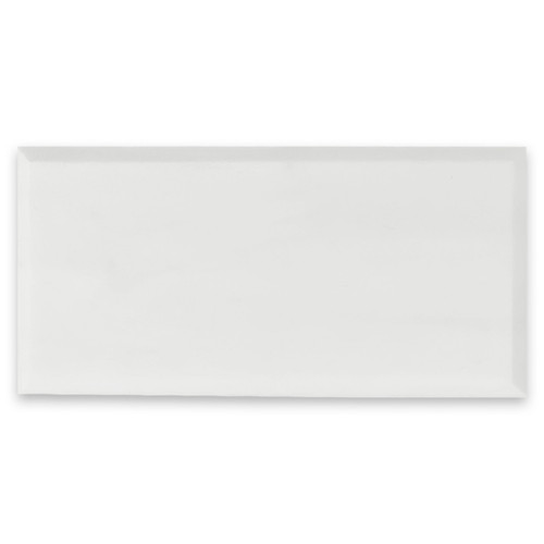 6x12 Bianco Dolomite Marble Wide Bevel Subway Tile Honed