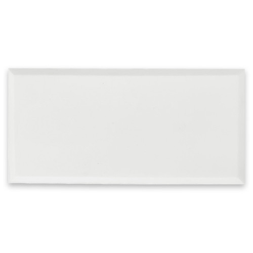 6x12 Bianco Dolomite Marble Wide Bevel Subway Tile Polished
