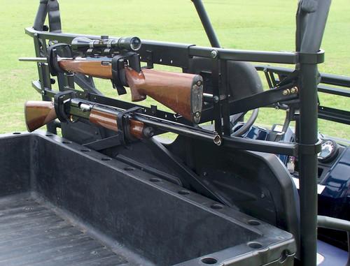 "QUICK DRAW OVERHEAD GUN CASE RACK KAWASAKI TERYX 2 SEATER 14-16 35/""-42/""ROLL CAGE"