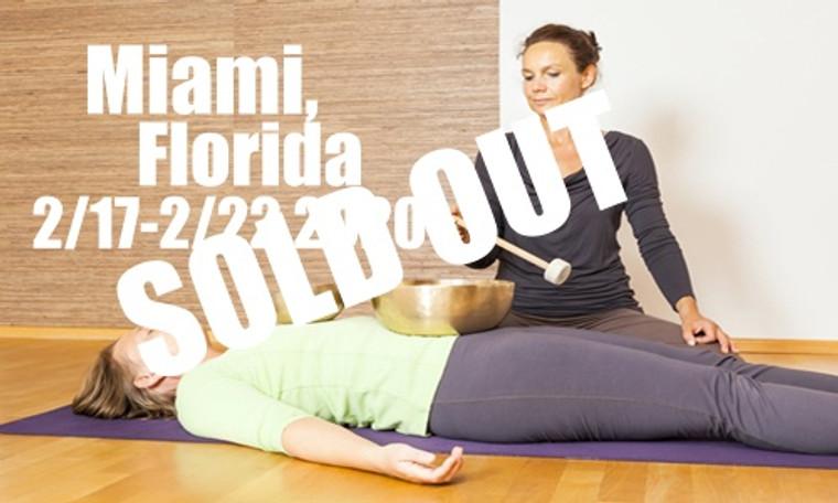VSA Singing Bowl Vibrational Sound Therapy Certification Course Miami FL Feb 17-22, 2020