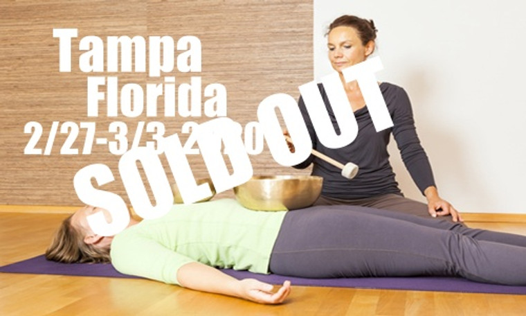 **SOLD OUT** VSA Singing Bowl Vibrational Sound Therapy Certification Course Tampa FL Feb 27 - March 3, 2020
