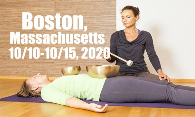 VSA Singing Bowl Vibrational Sound Therapy Certification Course Boston MA October 10-15, 2020