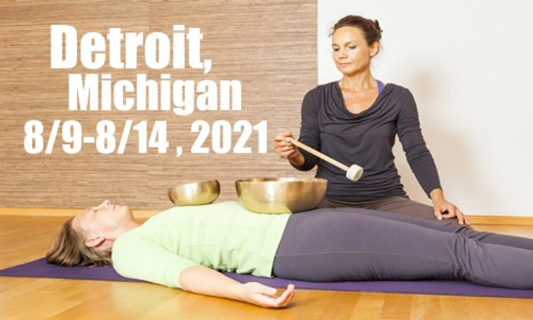 VSA Singing Bowl Vibrational Sound Therapy Certification Course Detroit MI August 9-14, 2021