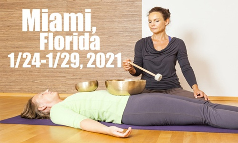 VSA Singing Bowl Vibrational Sound Therapy Certification Course Miami FL January 24-29, 2021