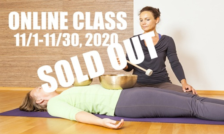 **SOLD OUT** ONLINE VSA Singing Bowl Vibrational Sound Therapy Certification Course November 1-30,  2020