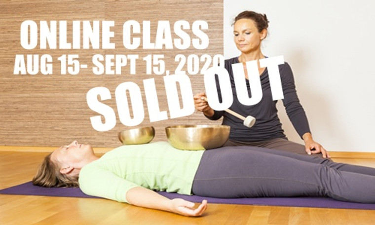**SOLD OUT** ONLINE VSA Singing Bowl Vibrational Sound Therapy Certification Course August 15-September 15,  2020