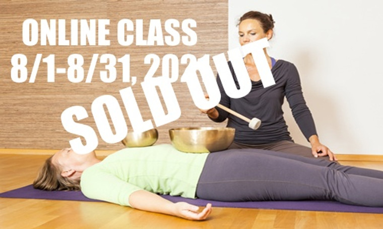 **SOLD OUT** ONLINE VSA Singing Bowl Vibrational Sound Therapy Certification Course August 1-31,  2021