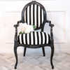 ROSEBUD ARMCHAIR | Black & White Stripe