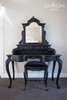 LOUIS DRESSING TABLE SET | Black