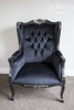 PRE-ORDER: Wingback Palermo - Black and Silver