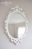 OVAL CARVED MIRROR | Pure White