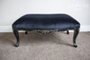 FLOWER CARVED OTTOMAN | Black Velvet