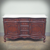BORDEAUX DOUBLE BATHROOM VANITY | Mahogany