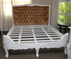 PRE ORDER: French Carved Padded Bed - Queen size